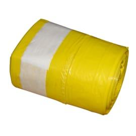 Sac plastique PE BD 20L jaune 18µm photo du produit