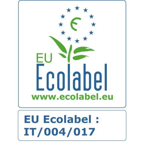 Papier toilette rouleau géant blanc 2 plis 380m prédécoupé 8,5 x 17,5 cm certifié Ecolabel photo du produit Back View L