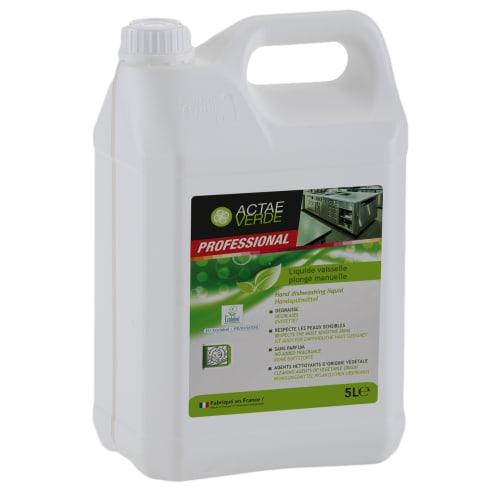 Actae Verde liquide vaisselle plonge manuelle certifié Ecolabel bidon de 5L photo du produit