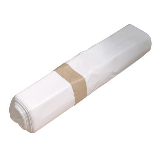 Sac plastique PE BD 110L blanc 40µm photo du produit