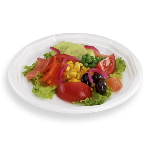 Assiette plastique ronde O200mm blanc photo du produit