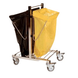 Chariot double supports moyens sacs inox photo du produit