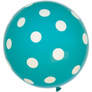 Turquoise Dotted Balloons (5)