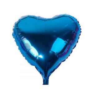 Turquoise Foil Heart Balloon 18 inch