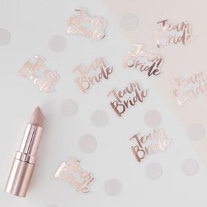 Team Bride Worded Confetti