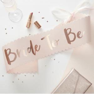 Team Bride Bride to be Sash (GRY)