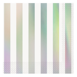 Iridescent Striped Lunch Napkins (16)
