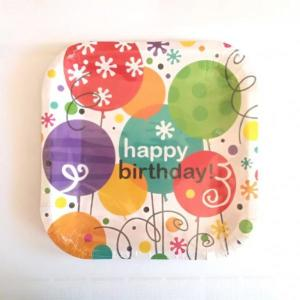 Springtime Balloons Small Plates 7 inch (10)