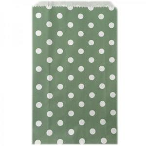 Sage Dotted Candy Bags (25)