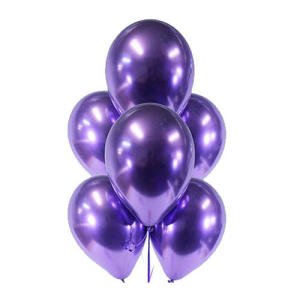 Purple Chrome Balloons (5)