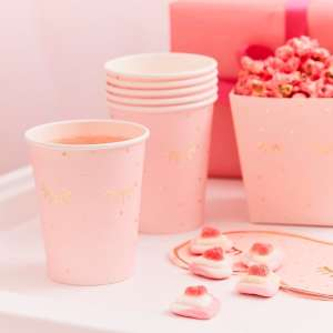 Pamper Party Pink Sleepy Eyes Paper Cups (8)