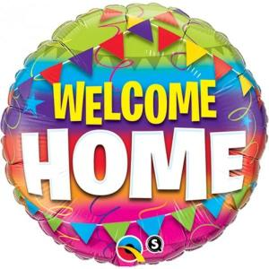 Welcome Home Pennants Foil Balloon 18 inch
