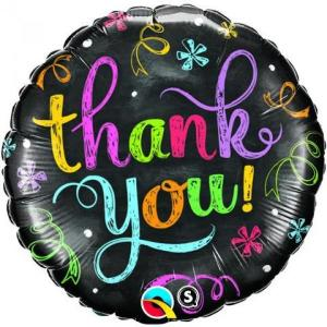 Thank you Chalkboard Foil Balloon 18 inch