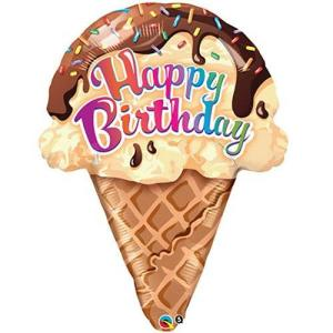 Ice cream Cone Foil balloon 27 Inch