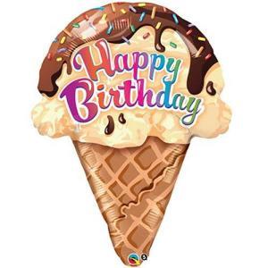 Ice cream Cone Foil balloon 27 Inch