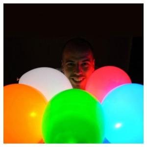 "LED light balloons 12"" (5)"