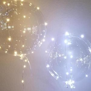 PVC Balloon with LED string lights 18inch
