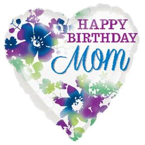 Happy Birthday Mom 17 inch Foil Balloon