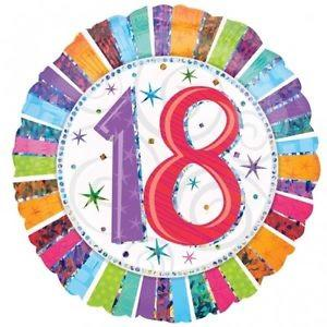 Happy 18th Birthday Radiant 18 inch Foil Balloon