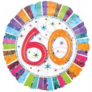 Happy 60th Birthday Radiant 18 inch Foil Balloon