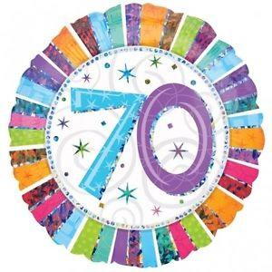 Happy 70th Birthday Radiant 18 inch Foil Balloon