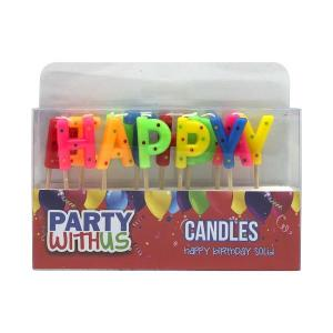 Solid colour Letter Candles Colourful