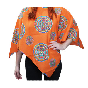 Mexican Poncho Adult Orange Design