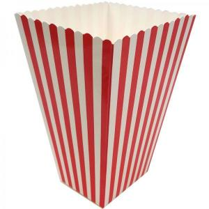 Red Striped Popcorn Boxes (10) - 15cm x 10cm