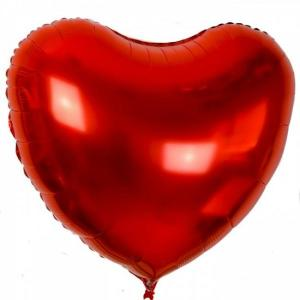 Giant Red Foil Heart Balloon 80cm