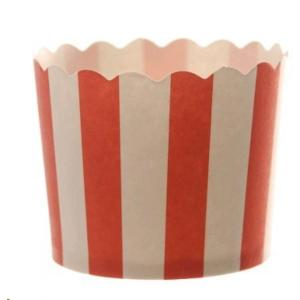 Red Striped Baking Cup (25)