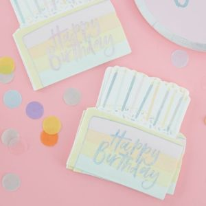 Pastel Party Birthday Cake Serviettes (16)