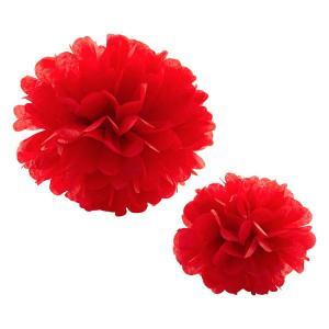 Red Tissue Paper Pom Pom (30cm)