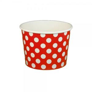 Red Dotted Ice Cream Cups (10)