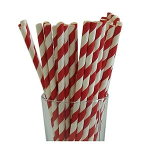 Red Party Straws (25)