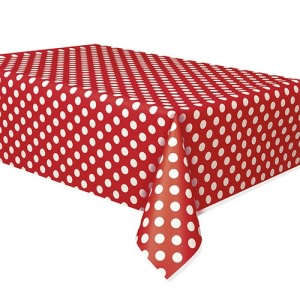 Red Dotted Table Cover