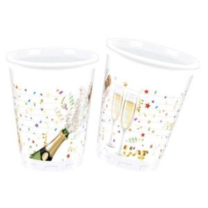 Sparkling Celebration Plastic Cups (8)