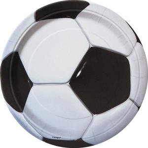 Super Soccer 3D Paper Plates Large (8)