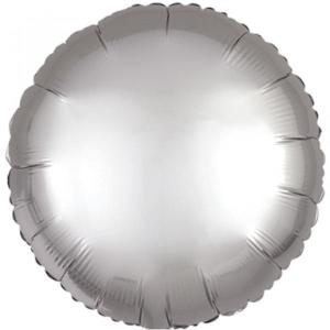 Satin Luxe Platinum Circle Foil Balloon 18inch