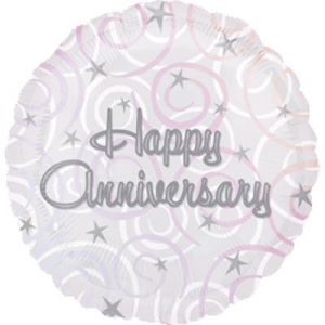 Happy Anniversary Swirls Balloon
