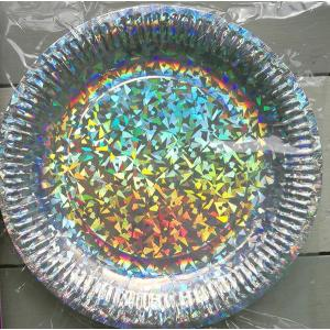 Silver Holographic Paper Plates (6)