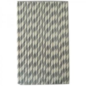 Silver Party Straws (25)