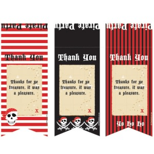 Arrr Pirate Party - Thank You Gift Bag Tags (8)