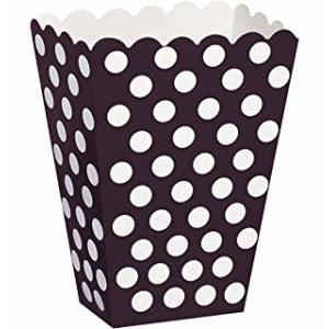 Black Dotted Popcorn Boxes Small (6)