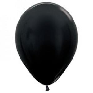 Black Metallic Pearl Balloons (5)