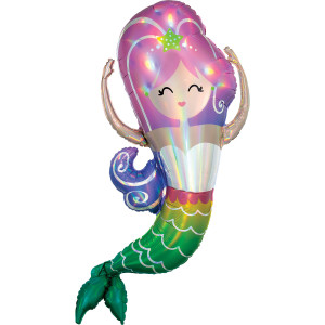 Mermaid Iridescent Supershape Foil Balloon