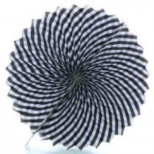 Black Striped Decorative Fan