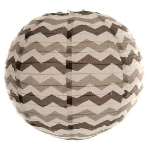 Black Chevron Wired Lantern