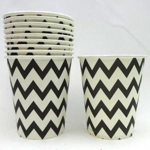 Black Chevron Paper Cups (10)