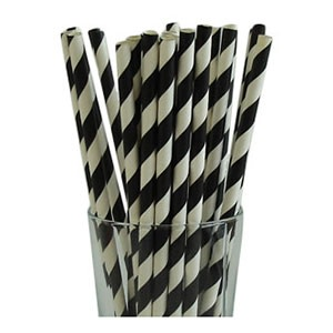 Black Party Straws (25)