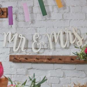 Floral Boho Mr & Mrs Bunting